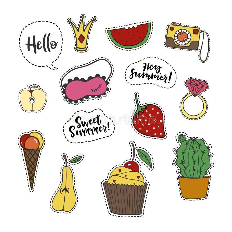 Etiquetas do verão ilustração stock