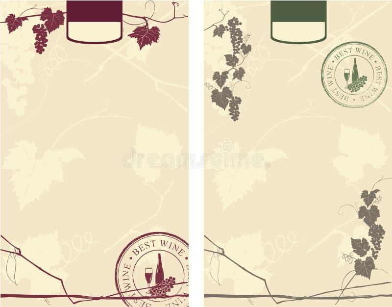 Etiquetas do vinho ilustração do vetor