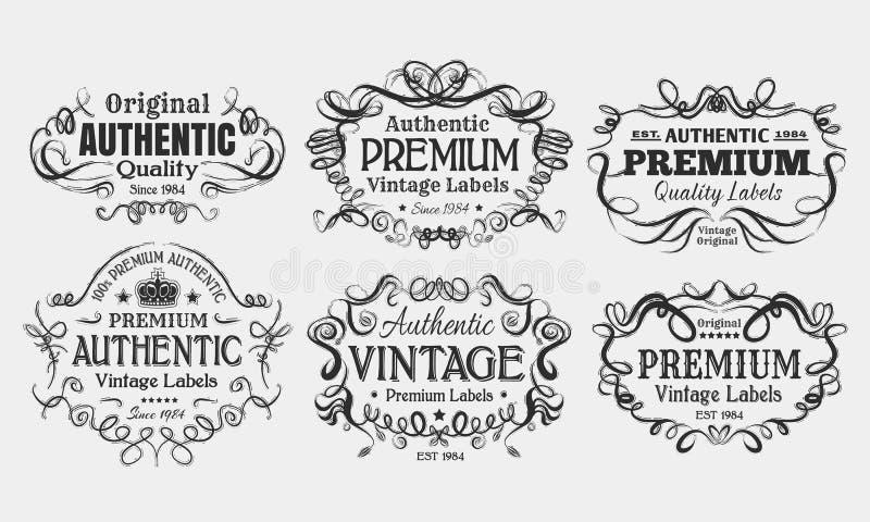 Etiquetas do vintage ilustração do vetor