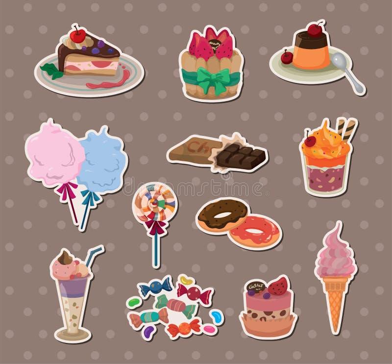 Etiquetas dos doces ilustração royalty free