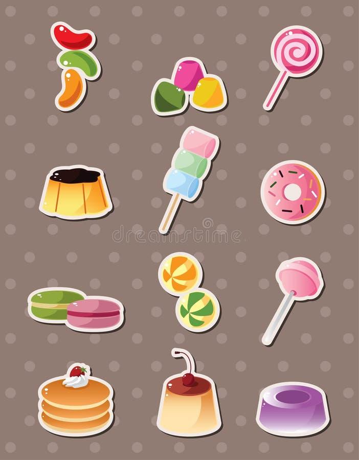 Etiquetas dos doces dos desenhos animados ilustração do vetor