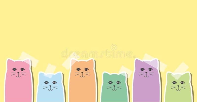 Etiquetas dos gatos ilustração royalty free