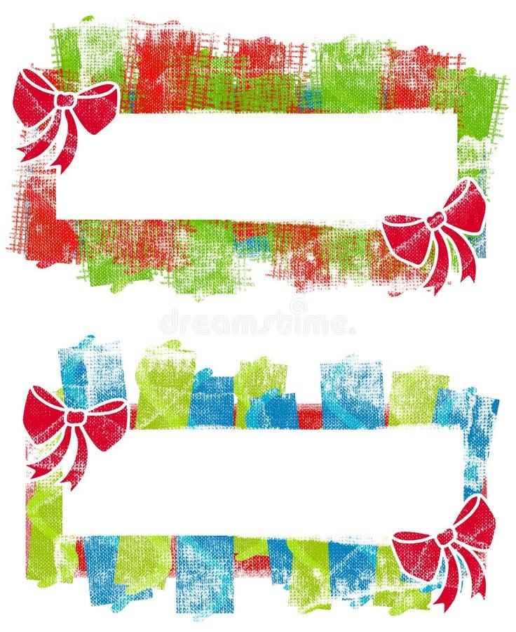 Etiquetas dos logotipos do Natal de Grunge ilustração stock