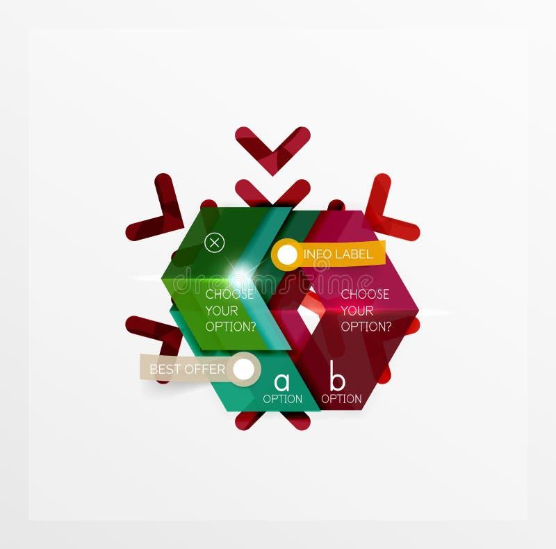 Etiquetas e etiquetas da venda do Natal ilustração do vetor