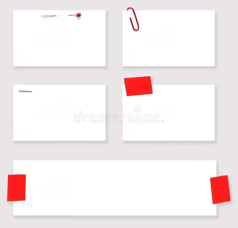 Etiquetas em branco do branco com trajeto ilustração royalty free