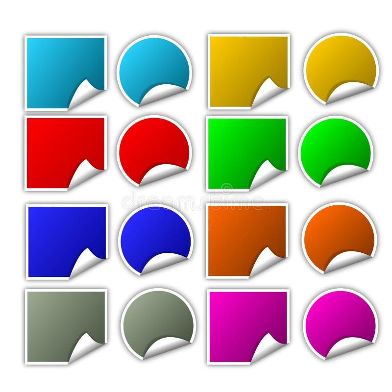 Etiquetas engomadas fotos de archivo libres de regalías