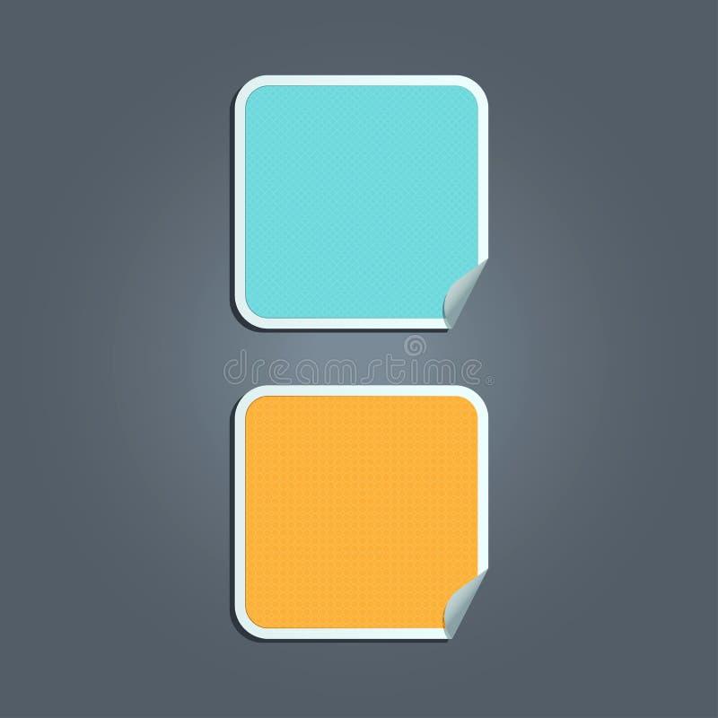 Etiquetas engomadas con el modelo del pixel stock de ilustración