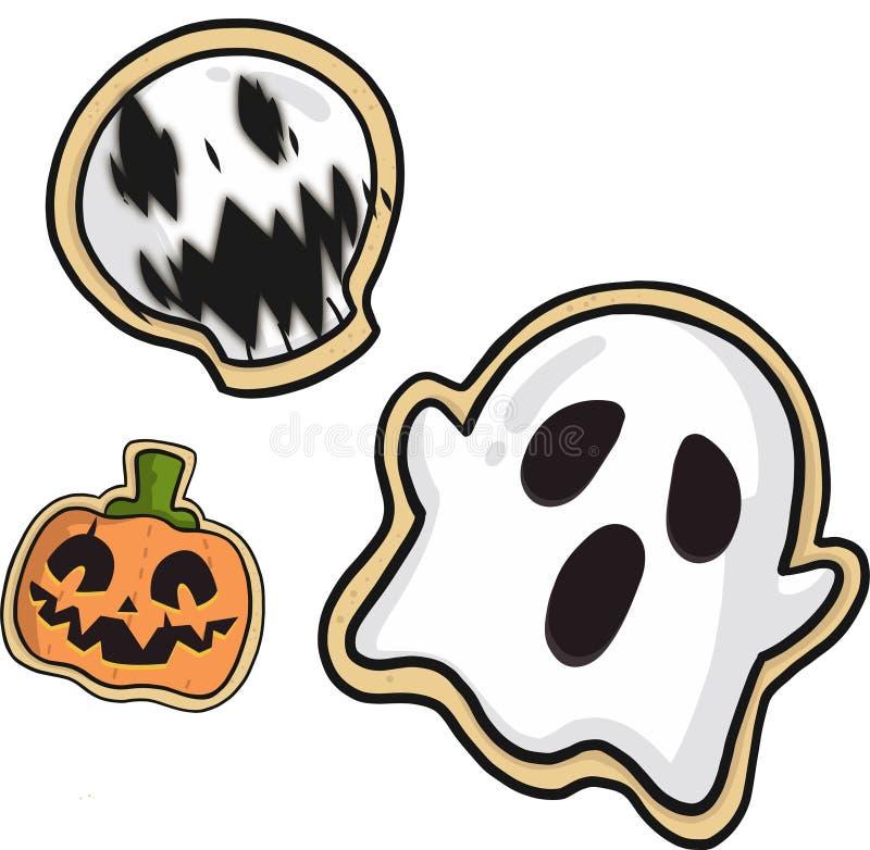 Etiquetas engomadas de Halloween imagenes de archivo