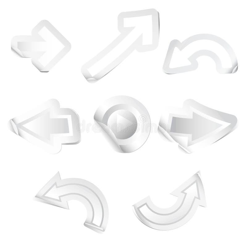 Etiquetas engomadas de la flecha imágenes de archivo libres de regalías