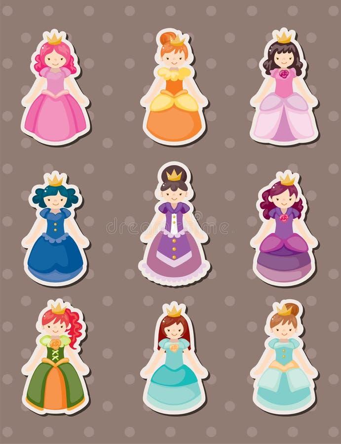 Etiquetas engomadas de la princesa ilustración del vector