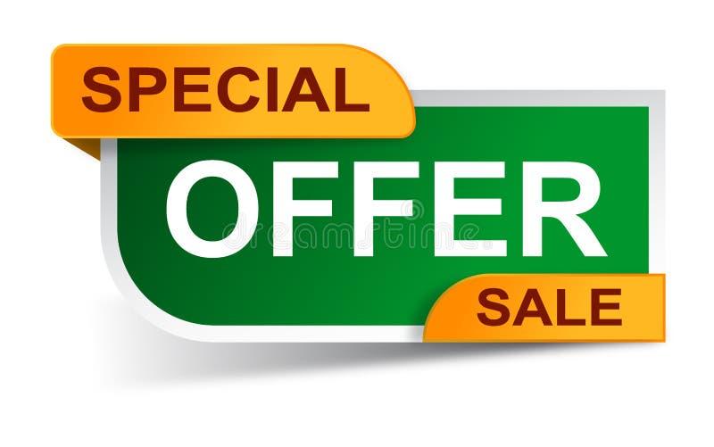 Etiquetas engomadas de la venta de la oferta especial stock de ilustración