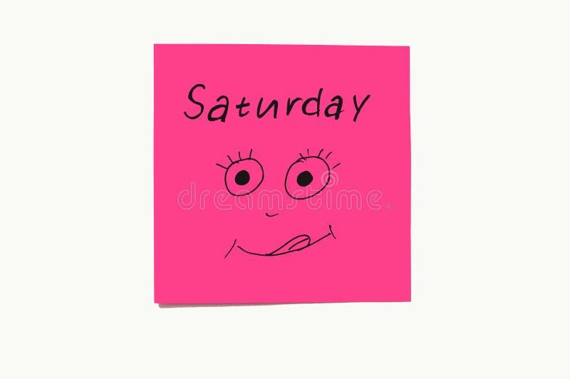 Etiquetas engomadas de las notas para recordar los d?as la semana Notas divertidas con las emociones pintadas, reflejando los d?a imagen de archivo libre de regalías