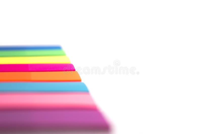 Etiquetas engomadas del arco iris foto de archivo