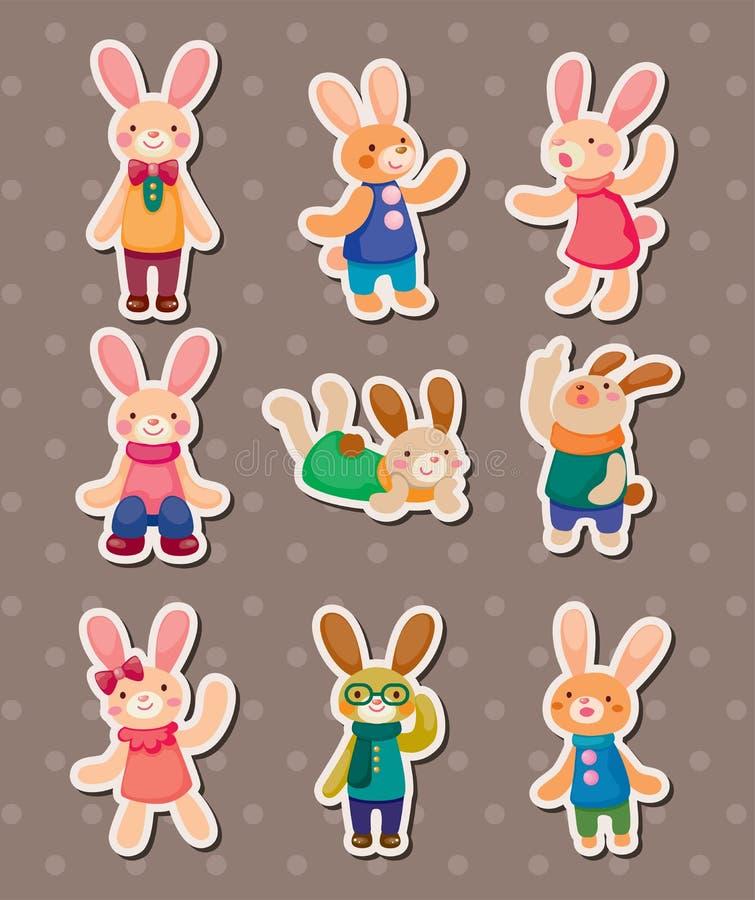 Etiquetas engomadas del conejo libre illustration