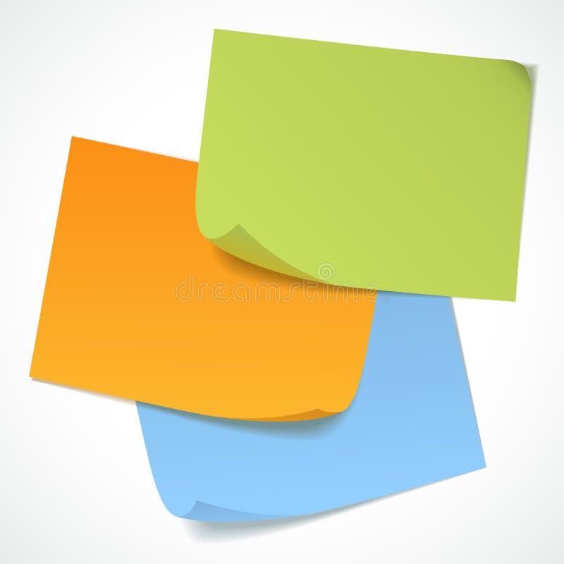 Etiquetas engomadas del vector stock de ilustración