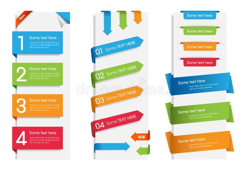 Etiquetas engomadas, etiquetas y escrituras de la etiqueta coloridas del Web stock de ilustración