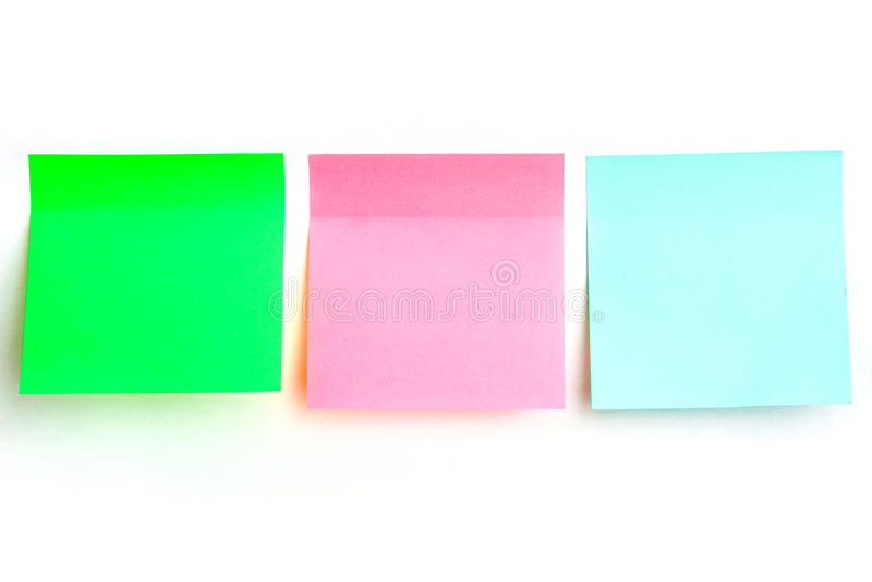 Etiquetas engomadas multicoloras para las notas imagenes de archivo