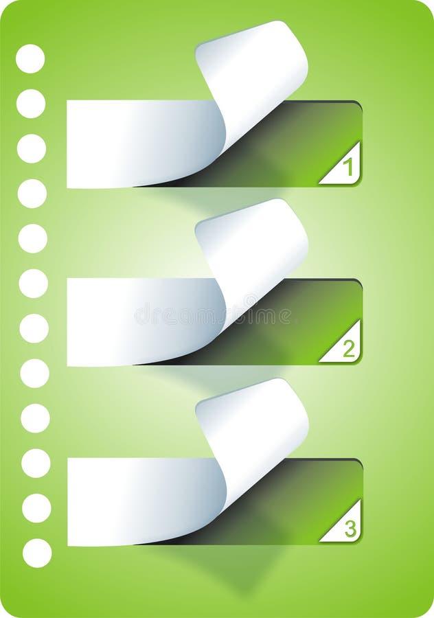 Etiquetas engomadas verdes fotografía de archivo libre de regalías