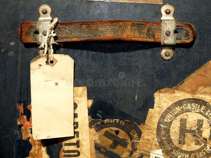 Etiquetas engomadas y escrituras de la etiqueta del caso del recorrido de la vendimia imágenes de archivo libres de regalías