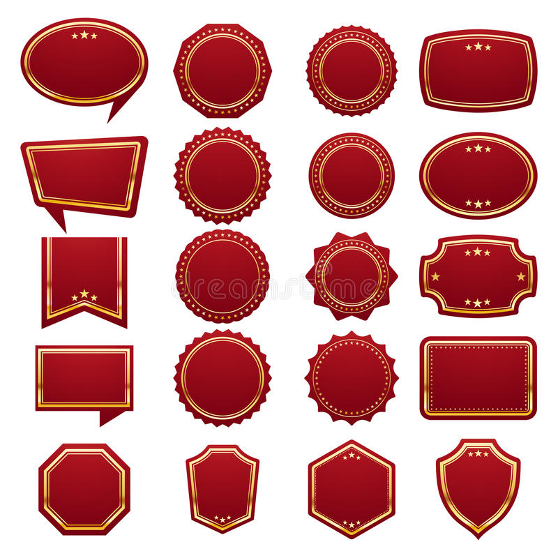 Etiquetas, etiquetas ou grupo de etiquetas vazio ilustração stock