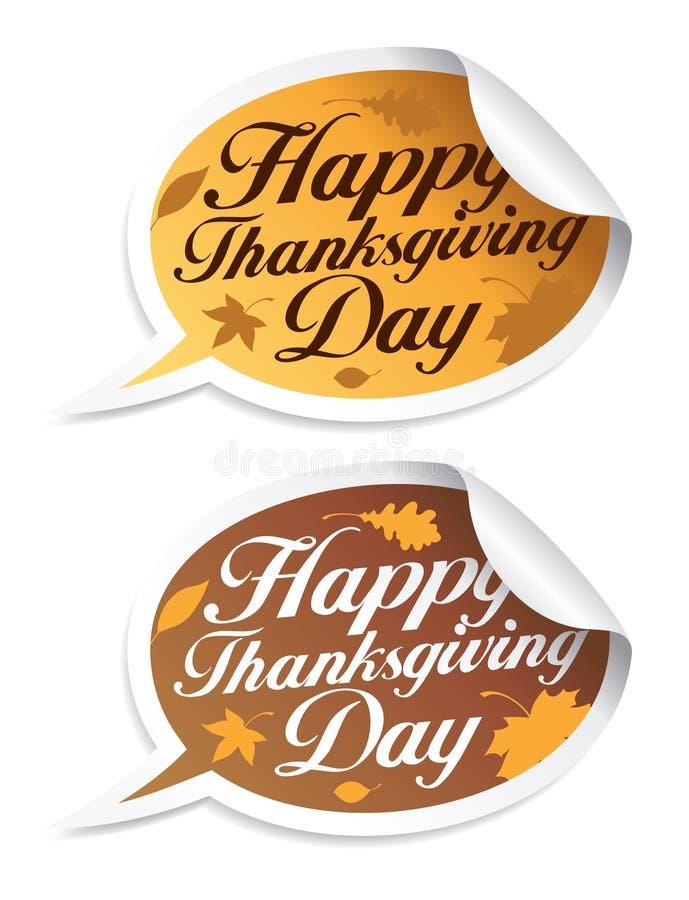 Etiquetas felizes do dia da acção de graças.