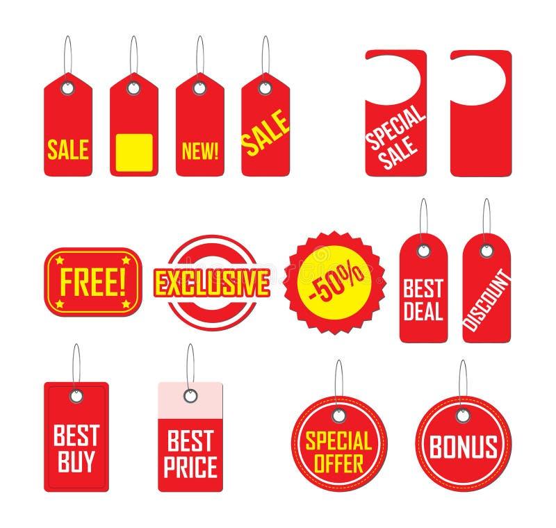 Etiquetas grises de las compras libre illustration