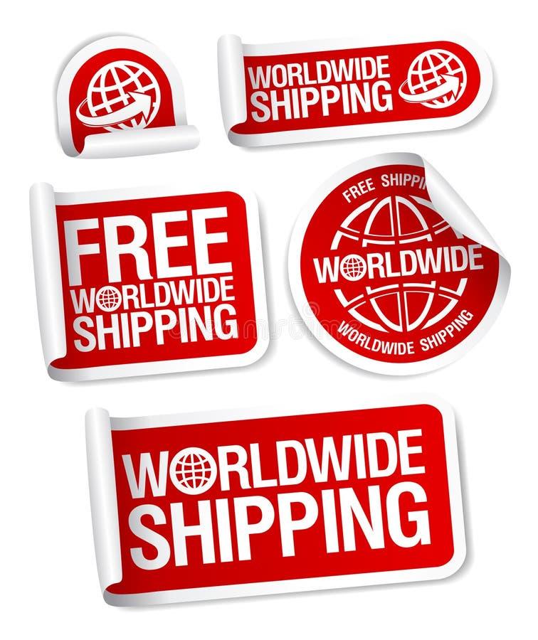 Etiquetas mundiais do transporte ilustração do vetor