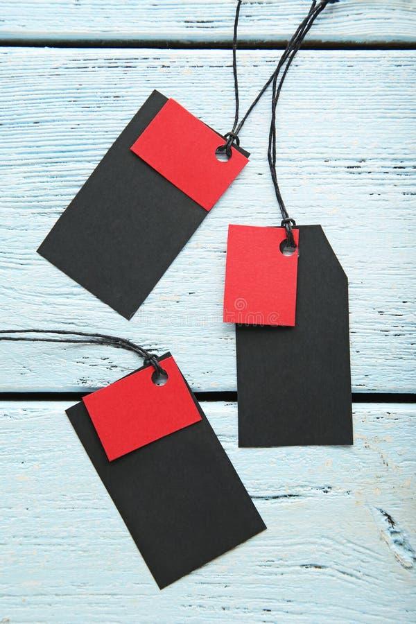 Etiquetas negras de la venta fotografía de archivo libre de regalías