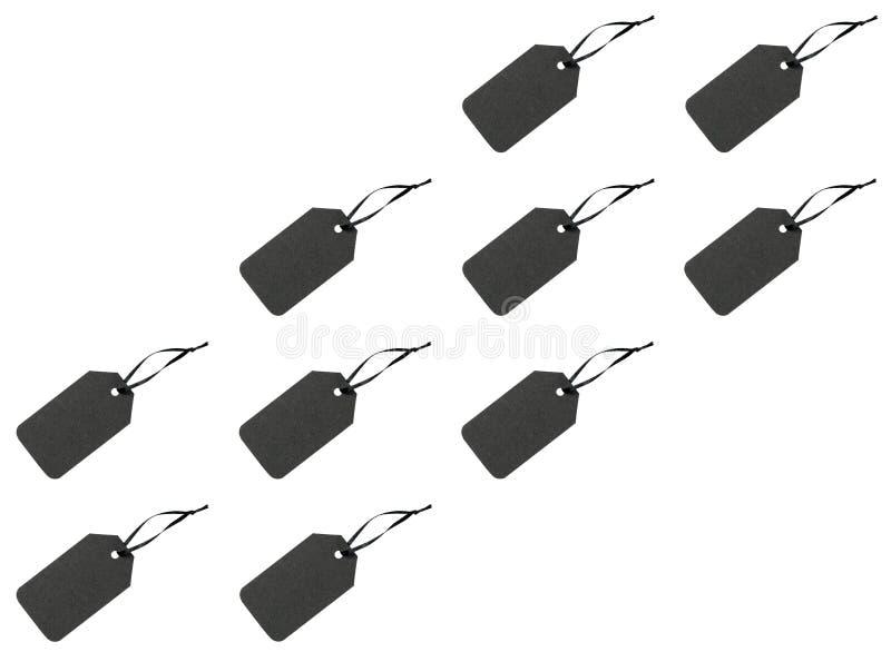 Etiquetas negras en blanco fotos de archivo libres de regalías