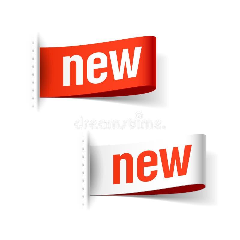 Etiquetas novas ilustração stock