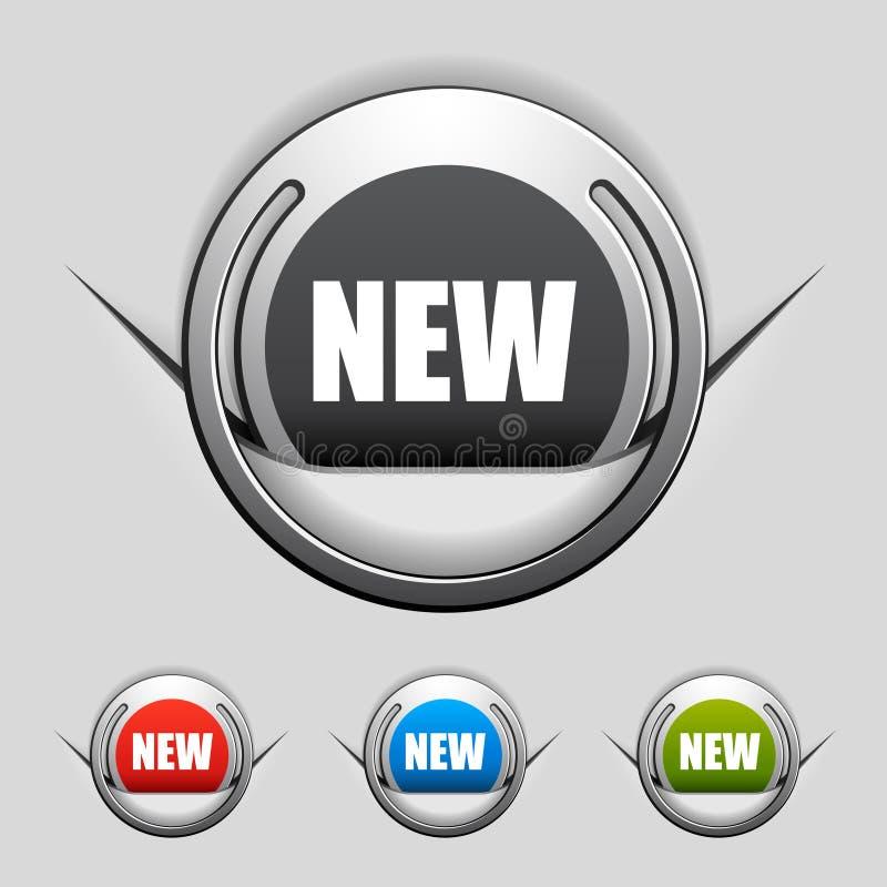 Etiquetas novas anexadas do cromo ilustração stock