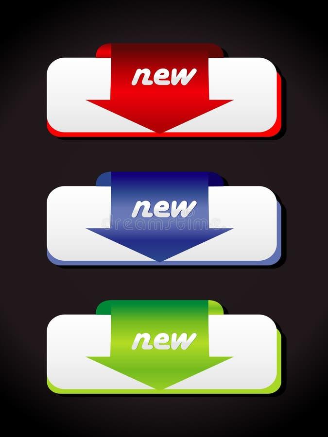 Etiquetas novas. Vector.fully editable ilustração stock