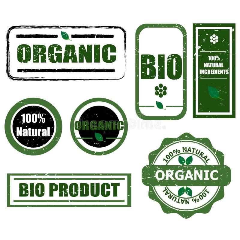 Etiquetas orgánicas ilustración del vector
