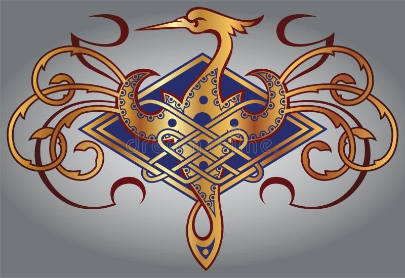 etiquetas Ouro-moldadas ilustração royalty free
