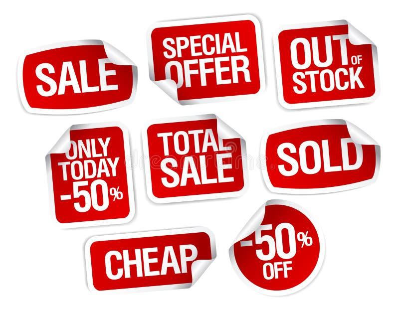 Etiquetas para as melhores vendas conservadas em estoque