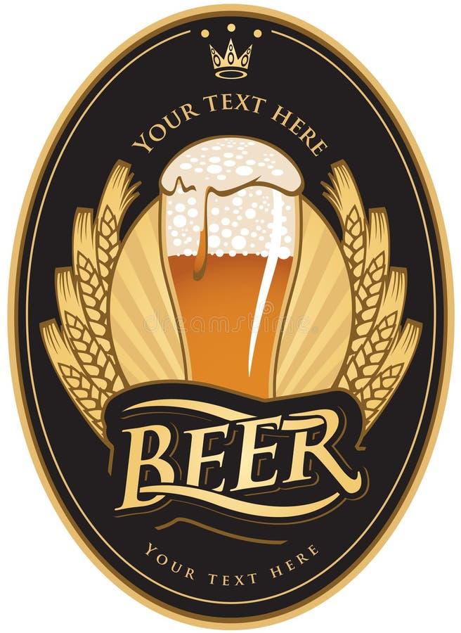 Etiquetas para a cerveja ilustração do vetor