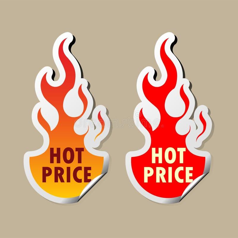 Etiquetas quentes do preço ilustração stock