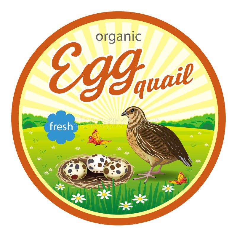 Etiquetas redondas para ovos de codorniz ilustração do vetor