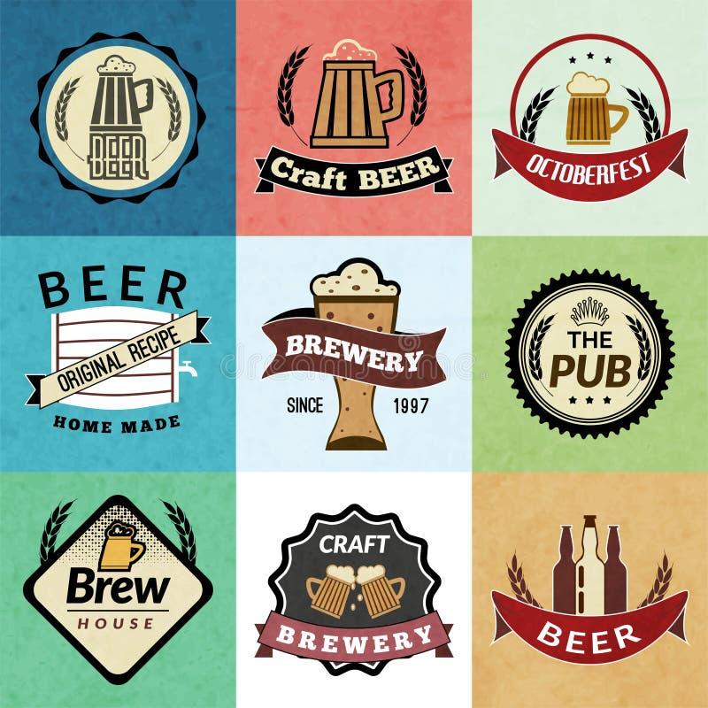 Etiquetas retras de la cerveza libre illustration