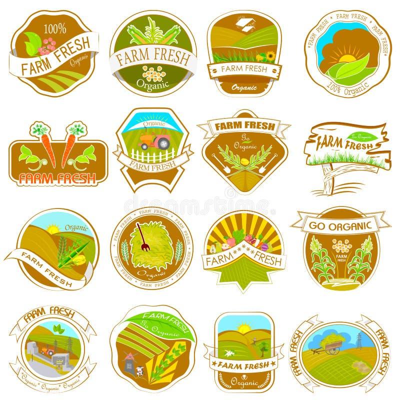 Etiquetas retras de la granja del vintage ilustración del vector
