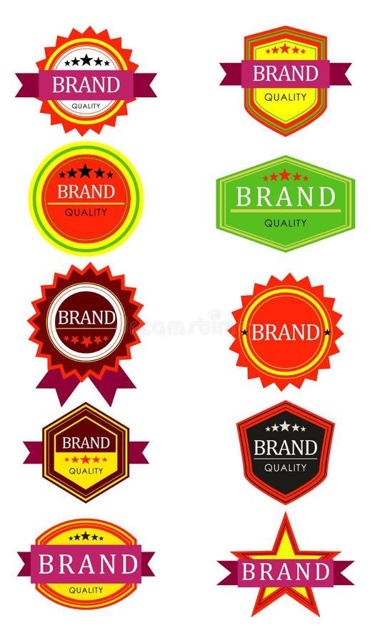 Etiquetas retras de la marca libre illustration