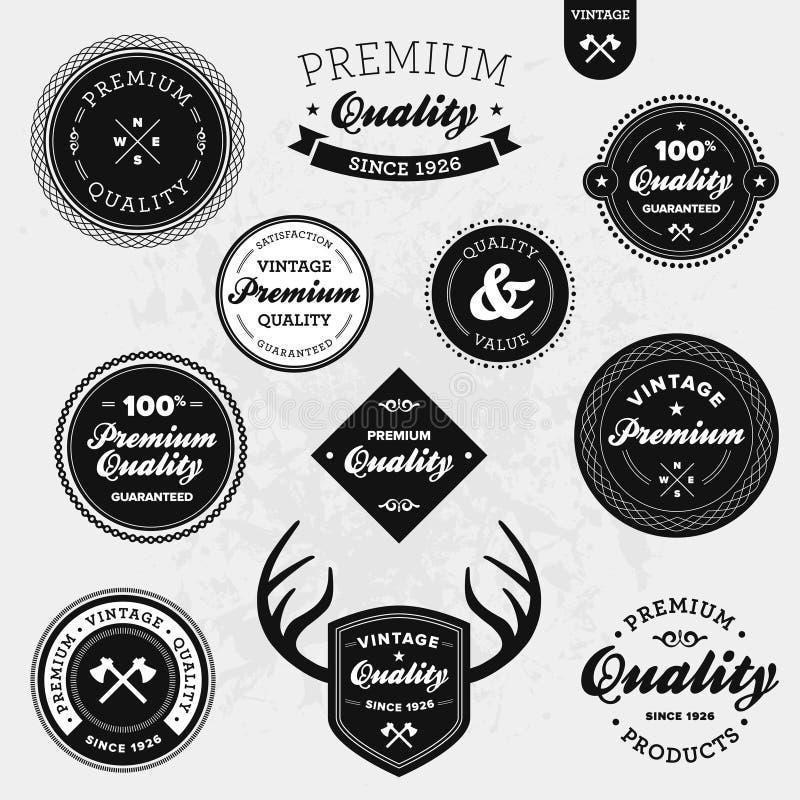 Etiquetas retros ilustração royalty free