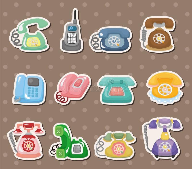 Etiquetas retros do telefone ilustração royalty free