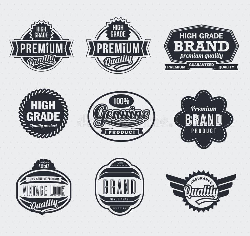 Download Etiquetas Retros Do Vetor Do Vintage Ilustração do Vetor - Ilustração de garantia, insignia: 26504102