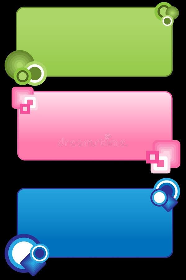 Etiquetas retros/Tag ilustração stock
