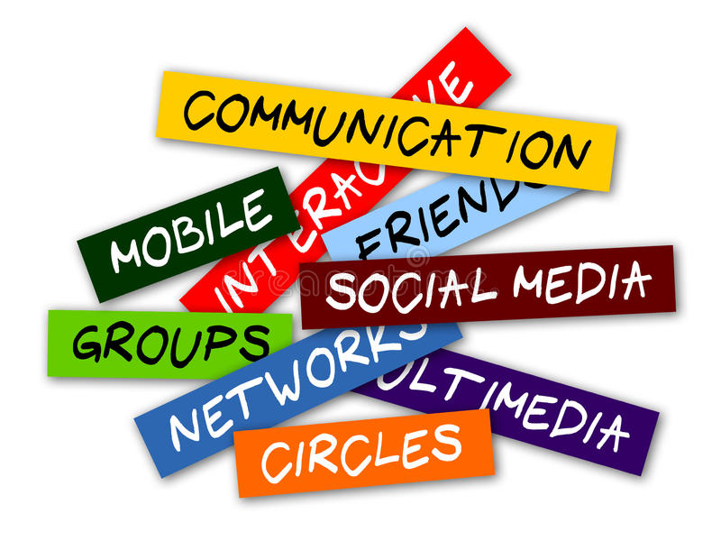 Etiquetas sociais dos media ilustração stock