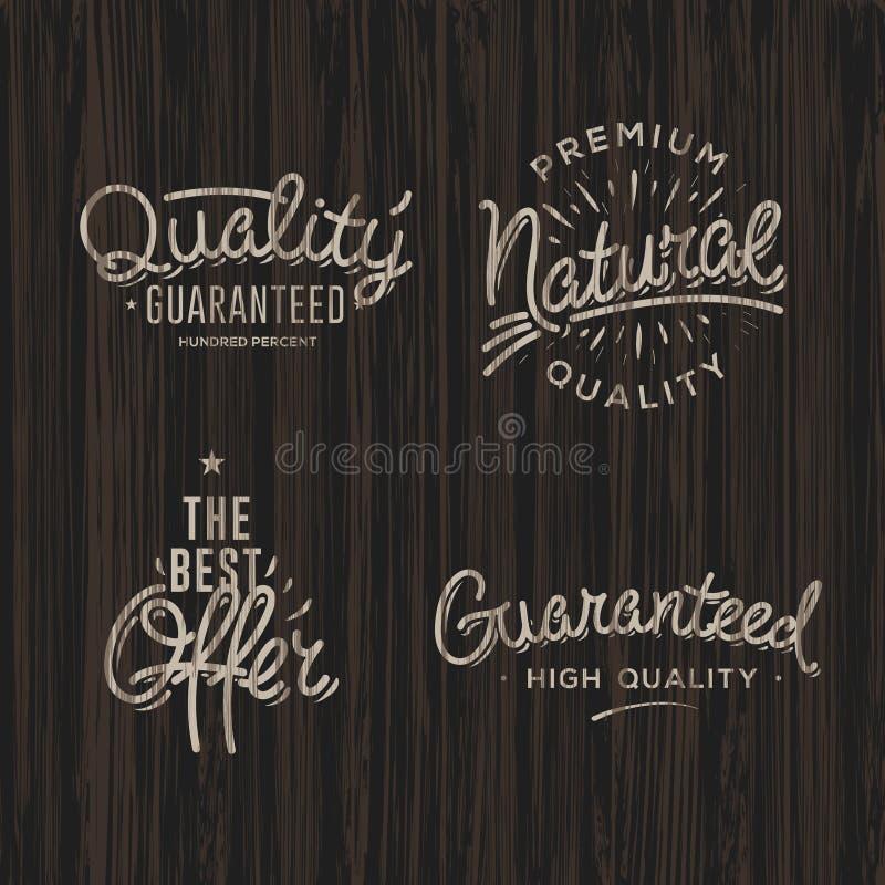 Etiquetas superiores da qualidade ilustração stock