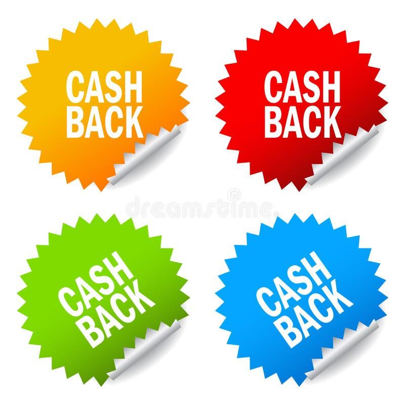 Etiquetas traseiras do dinheiro ilustração royalty free