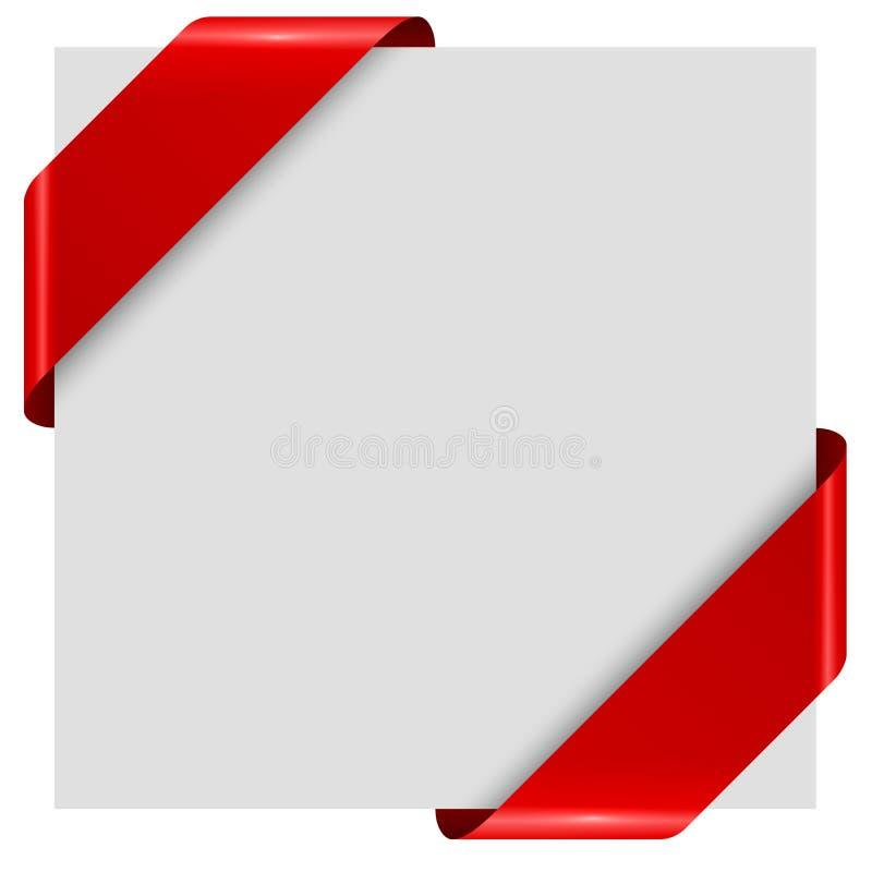 Etiquetas vermelhas da fita do recém-vindo ilustração do vetor