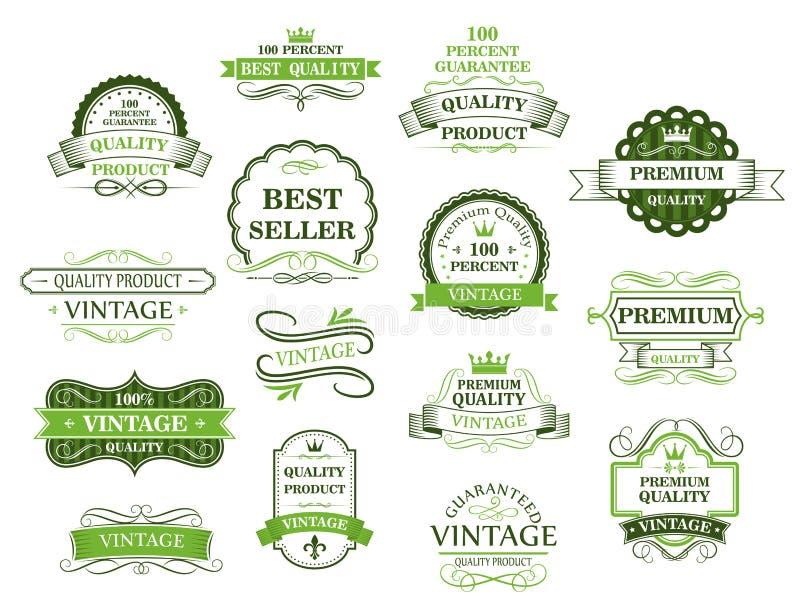 Etiquetas y banderas verdes libre illustration